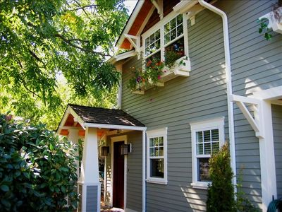 The cottage is a newly constructed home with the charm of a historic craftsman