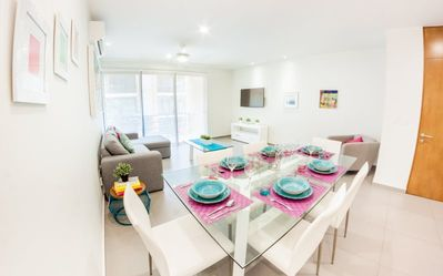 Photo for Bright-colored 2BR Condo at 38th by Happy Address