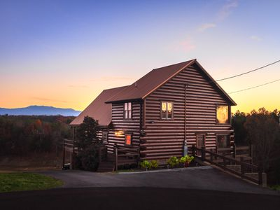 Photo for Grand VistaLakefront,60-gameArcade,firepit,hot tub, views,fireplace,,basketball