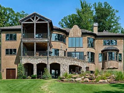 Photo for Lake, dock, pool, jacuzzi, luxury amenities, close to Charlotte