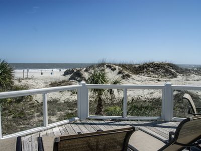 Photo for Tybee Beach Oceanfront Cottage - Ideal Location with Great Views