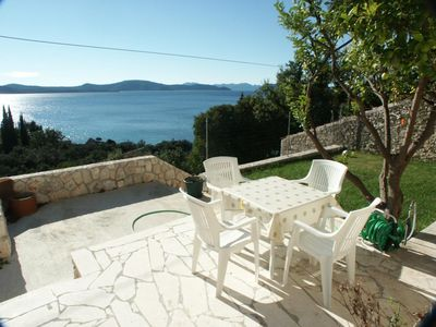Photo for One bedroom apartment with terrace and sea view Slađenovići, Dubrovnik (A-2162-a)
