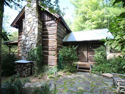 Photo for Charming Rebuilt 1850s Cabin in Pisgah Forest