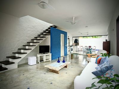 Photo for Blue house with pool in mini condominium. Great location.