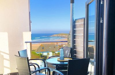 Photo for NEW FOR APRIL 2019 - 33 Ocean one is a beautifully refurbished 2 bedroom ocean view Fistral apartmen