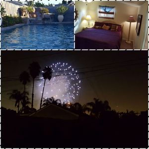 Photo for Walk to Disneyland see the fireworks from the pool with waterfalls