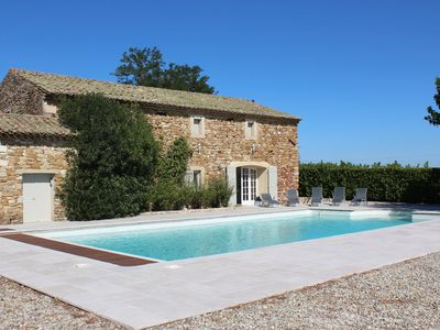 Photo for BIG CHARMING FAMILY HOUSE IN THE HEART OF VINEYARDS AND CLOSE TO THE ARDÈCHE