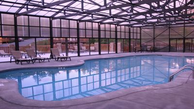 Indoor Heated Pool Open Year Round/ Sunning Deck , Picnic Area  & Charcoal Grill