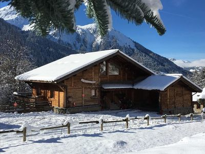 Photo for Very nice wooden chalet of 18 people