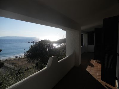 Photo for Villa on the beach, Amazing sea view, restaurant on the beach, sleeps 5 persons.