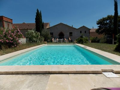 House of character 6 rooms with swimming pool, enclosed garden in field -  Montady