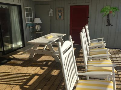Photo for Beautiful Ocean Front Condominium with a Large Front Porch and Rocking Chairs
