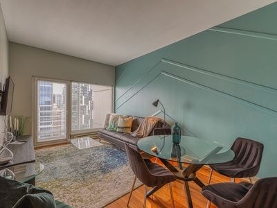 Photo for Beautifully designed penthouse featuring shared hot tub and community pool
