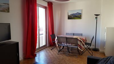 Photo for 2 steps from the shops and the beach of the coast of Basques