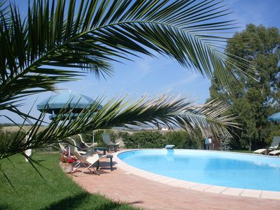 Photo for Magnificent swimming pool among mediterranean vegetation,  private garden