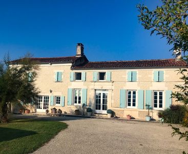 Photo for Traditional Charentais villa near Cognac, with heated private pool and garden