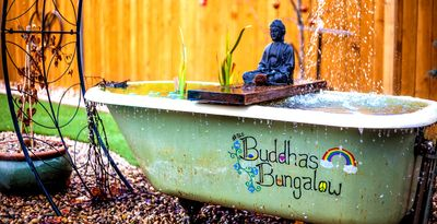 Photo for Chill at Buddhas Bungalow SugarHouse❤ NEW* Plushy* 2B2B* Hot Tub* Fire pit