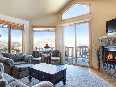 Photo for Mount Cumulus 11A - 2 Br condo with private hot tub, Marys Lake and mountain views!
