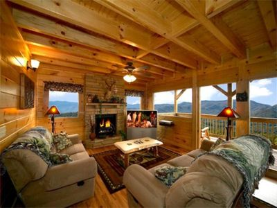 A True Dream - Living Room with Fireplace