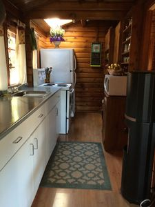 fully equipped galley kitchen.