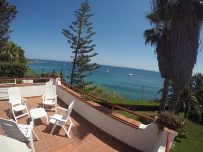 Photo for Villa Artemis, the sea, private garden (marine protected area) beautiful terrace