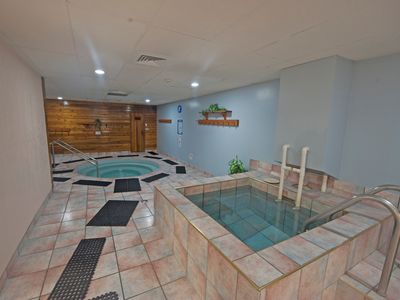 Photo for Ski-To/Ski-From Condo with a Private Balcony | Shared Hot Tub + Cold Plunge Pool!
