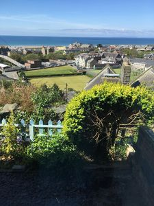 Photo for Stone Welsh Cottage, sea views, close to town & beach, dogs welcome, own parking