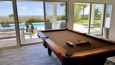 Photo for Gulf-front, large private pool, fenced yard, pool table, 2 kitchens