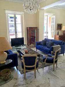 Photo for Charming 3 bedroom apt in a villa in the middle of a garden- Center of Cannes