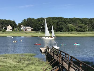 Photo for Remodeled 4 BR Waterfront Home w/Dock & Ocean Access Near Duxbury & Plymouth