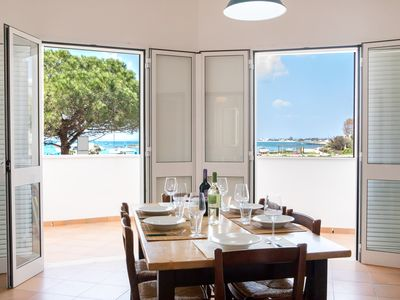 Photo for Sea view apartment, Porto Cesareo center, parking space