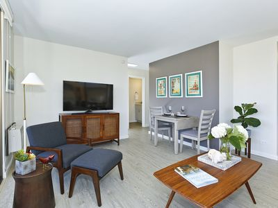 Photo for Partial Ocean Views! High Floor! A/C, Washer/Dryer plus FREE Parking and WiFi