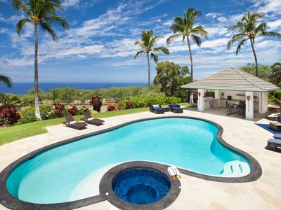 Photo for Luxury in Paradise! Ocean View Estate -  Pool, Spa, Tennis Court, Cabana