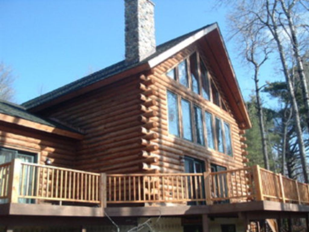 Spacious Log Home On Secluded Waterfront Pr VRBO - And architectural cottages on secluded private pond homeaway