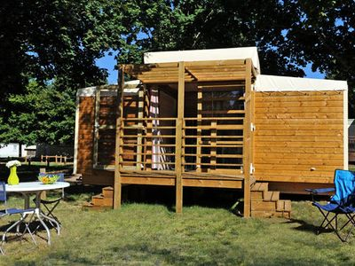 Photo for Camping Beauchêne *** - Nature Hut 3 rooms 4 people Without Bathroom