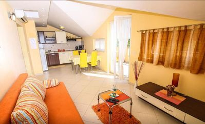 Photo for Lori 2, 2 people, 300 m to the beach, terrace, sea view, free WiFi, parking