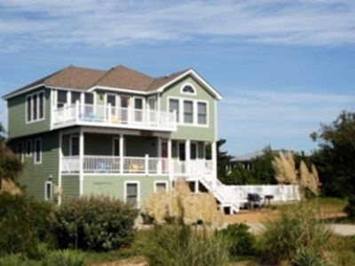 Photo for Duck Semi Ocean Front~6BR/6.5BA Pool-Hot Tub-Tiki Bar-Sept 2019 25% Discounts
