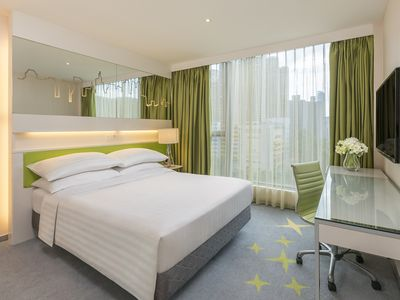 Photo for Deluxe Room with queen bed - free WiFi+Pool+Gym