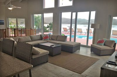 Looking from your kitchen out to the pool deck and beyond! (2018 photo)