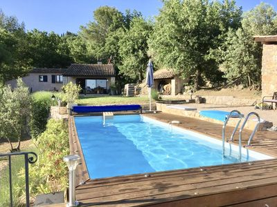 Photo for Hibou Lodge - Beautiful air-conditioned house with pool in TOURRETTES (83)