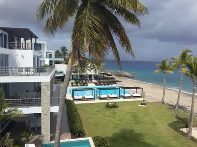 Photo for Top-Class Beachfront Condo in Central Sosua, 3-Bedroom, pool and fitness center!
