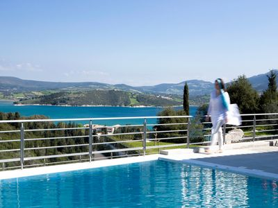 Photo for NEW! Guests love the direct access to the pool from the terrace and the sea view