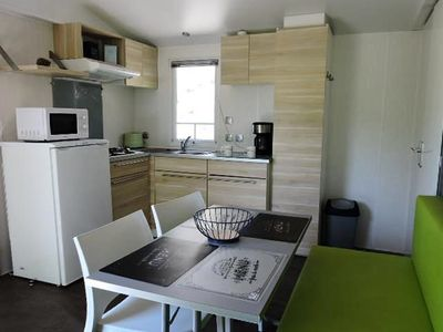 Photo for Camping Les Terrasses Provençales *** - Mobile home 3 rooms 4/5 people