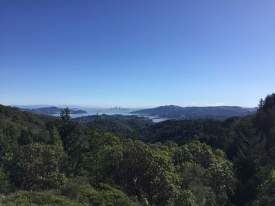 Photo for Private four bedroom home, minutes from town, views of SF