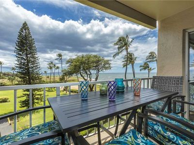 Photo for Remodeled Ocean Front two bedroom condo located at the Menehune Shores in Kihei. #424