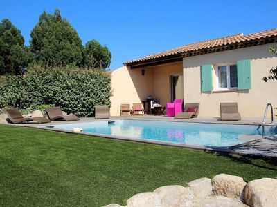 Photo for Charming Villa | Beach 10 minutes walk | Heated private pool | Clim. Wireless