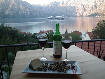 Photo for Penthouse with stunning views across Kotor Bay