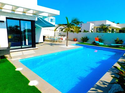 Photo for 4 Bedroom Detached Villa with Air Conditioning 8 x 4 Private Pool La Marina