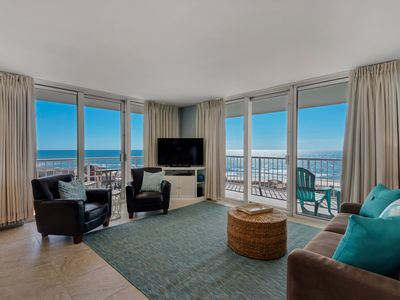 Photo for 3 br Tristan Towers with amazing views of Gulf and Sound! Recently Renovated.