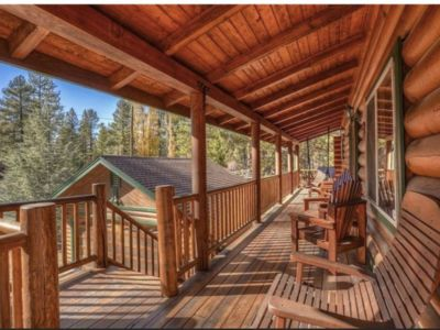 Photo for BIG BEAR LOG CABIN Fox Farm Area HOT TUB 3bd/3bth
